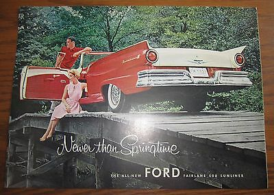 1957 Stunning Canadian Car Ad Ford Fairlane Convertible Canada
