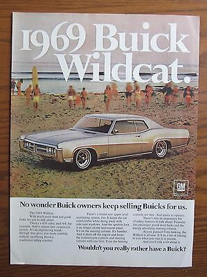 Stunning 1969 Canadian Car Ad Buick Wildcat  Car 2 Door