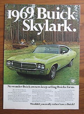 Stunning 1969 Canadian Car Ad Buick Skylark Car 4 Door