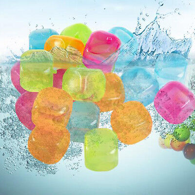 Plastic Ice Cubes colourful Reusable 20pcs Home Bar Cold Drink Cooler Cure Star