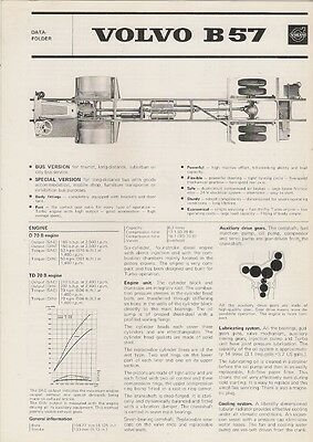 Volvo B57 Bus Chassis Specification 1973 UK Market Foldout Brochure