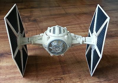"""Star Wars 11"""" White Tie Fighter Vintage 2003 Power Of The Force 3.75"""" Range Rare"""