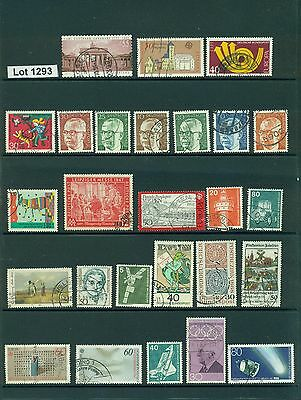Lot 1293..Germany..selection of 26 used stamps from various years