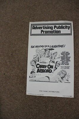Carry On Abroad - Sid James - Original Uk Pressbook