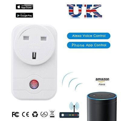 Wireless WiFi Smart Timer UK Plug Socket IOS Android Remote Control Power Switch