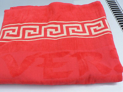 New Versace Towel for Bath Beach Hand 100% cotton XXL Red
