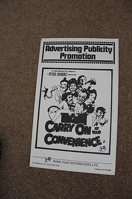 Carry On At Your Convenience - Sid James - Original Uk Pressbook