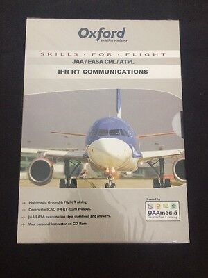 Oxford Aviation Academy JAA/EASA CPL/ATPL IFR RT COMMS CD ROM New RRP £74
