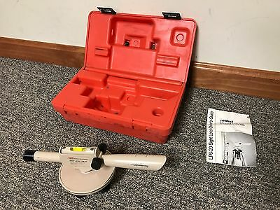 Realist David White Instruments Sight Level LP6-20 with Owner's Guide & Case