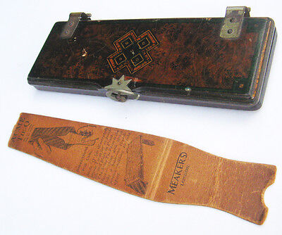 1920s Gentleman's Wooden Acme Tie Press + Acme Tie-Q Tailor MEAKERS Ltd. Vintage