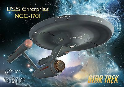 Star Trek Original Series Enterprise NCC1701 Poster Genuine Hubble Background #1