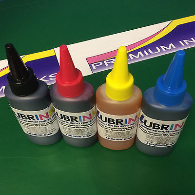 4x100ml Printer Ink For Refilling EPSON Workforce WF2010W WF2510WF WF2520NF 16xl