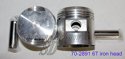 Triumph 650 pre unit iron head 6T .020  PISTONS kolben E2891 70-2891 with rings