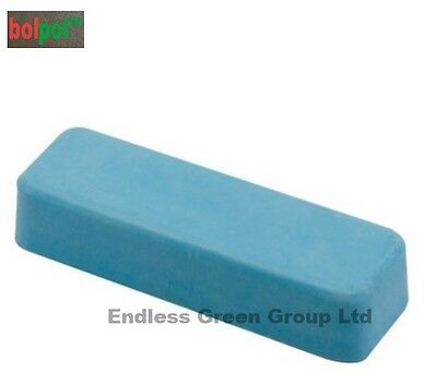 "4"" bolpol BLUE Bar - for general purpose metal cleaning & polishing - Smurf Poo"