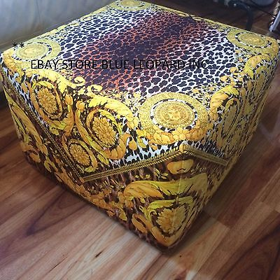 "CUSTOM VERSACE FOOT STOOL ...."" THE DASYURUS  ..available in x9 fabrics"
