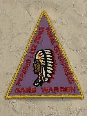 Defunct Tribe of Pyramid Lake Nevada Old Style Tribal Police Patch