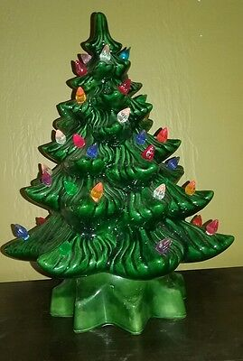 Vintage Ceramic Christmas Tree 13 inches tall