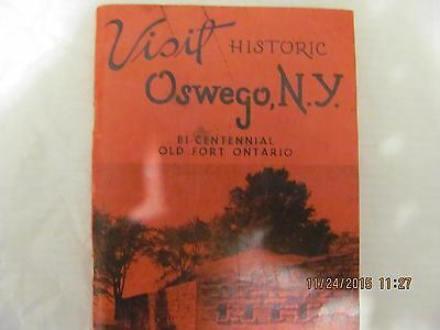vintage 1955 Oswego n.y. visitor's guide