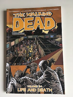 The Walking Dead Volume 24 Life And Death Graphic Novel Paper Back