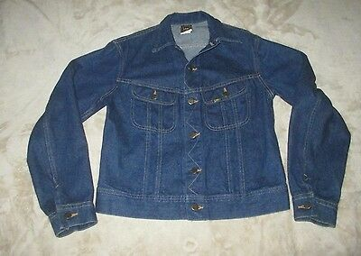 Vintage LEE RIDERS Blue Denim Jacket Size 20 Made In USA very nice condition
