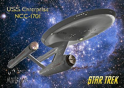 Star Trek Original Series Enterprise NCC1701 Poster Genuine Hubble Background #2