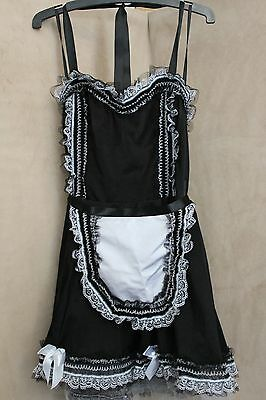 Ann Summers Erotic Maid Dress Up Size 14 New without Tags Waitress Fancy Dress