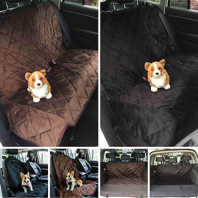 Car Car Rear Back Seat Cover Pet Dog Cat Protector Hammock Mat Black Waterproof