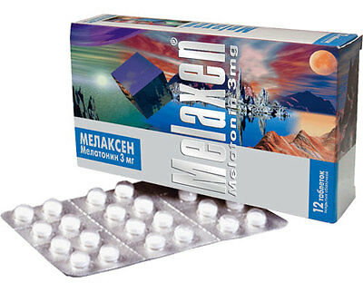 Melaxen Insomnia Travel Sweet Dreams Melatonin Antistress Antioxidant 12 Pills