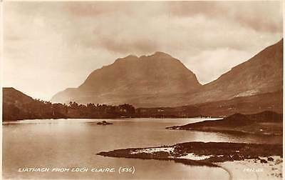 Liathach Peak from Loch Claire (536) Loch Clair (Walkhighlands) Real Photograph