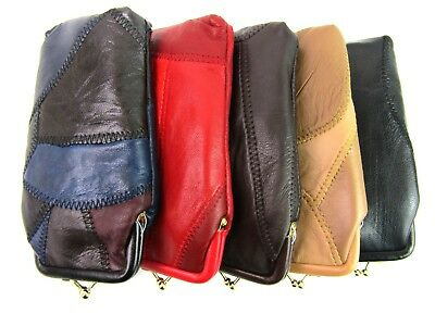 New Unisex Soft Real Leather Glasses Case Holder Sunglasses Case Protector Pouch