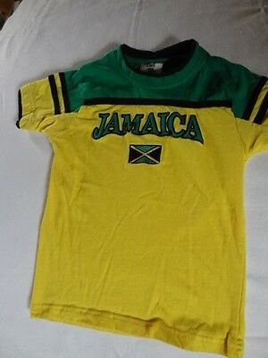 Kids Jamaica T-Shirt sz.6-8 All embroidered in top shape