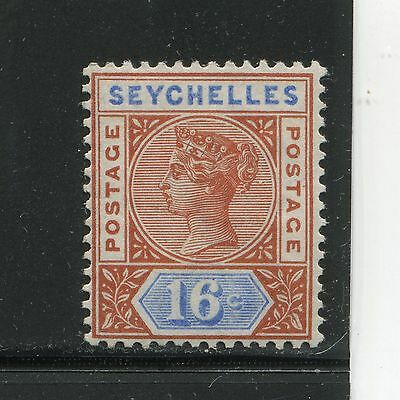 Seychelles 1890 Queen 16c Scott 12a Mint SCV $52