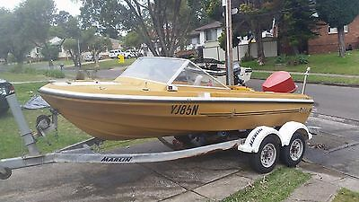 16ft Boat w/ 115hp Evinrude outboard and registered trailer