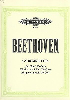 Partition piano Ludwig Van Beethoven - 3 Albumblatter - N° 8626