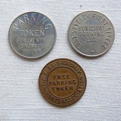 Lot of 3 Ohio parking tokens - OH