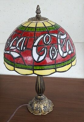 Tiffany Style,Stained Glass Coca Cola Lamp