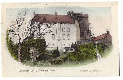 KILRAVOCK CASTLE from the south near Nairn, Old Postcard by Strachan Unused