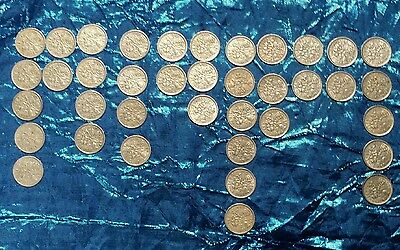 38 X Queen Elizabeth Ii Sixpence Coins In Excellent To Uncirculated Condition