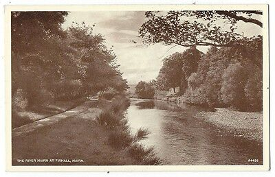 NAIRN River Nairn at Fairhall, Old Postcard by JB White, Unused