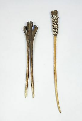 Two Early 20th Century Bone Hair Ornaments from New Guinea