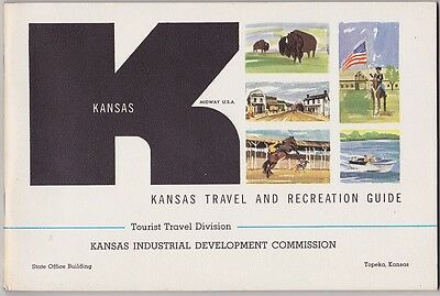 1963 Kansas Travel And Recreation Guide Booklet