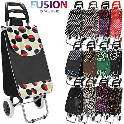 Folding Shopping Trolley Wheeled Funky Festival Bag New Strong Waterproof Light