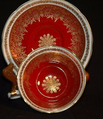 Royal Grafton Red Gold  Cup and Saucer