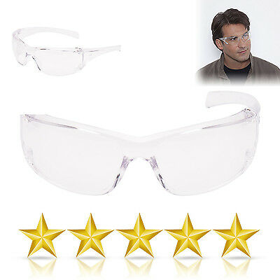12 X Clear Lens Eye Protection Safety Glasses EN166 Specs Work Spectacles