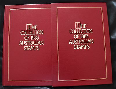The Collection of 1983 Australian Stamps. Album, Slipcover and MNH Stamps