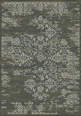 Modern Tribal Tibetan like GREY BROWN Faded Silk Like Vintage Distressed Rug -%