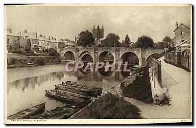 CPA The Wye Bridge Hereford