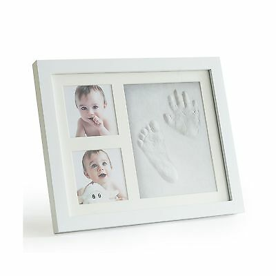 Premium Clay Baby Footprint & Handprint Picture Frame Kit  Safe and Non-toxic...