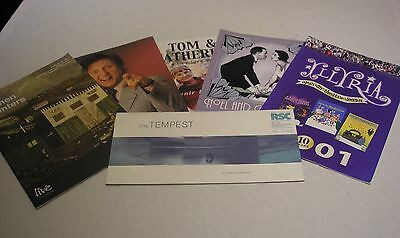 6 Theatre Programmes - Ken Dodd, The Tempest, Noel & Gertie, Tom & Catherine etc