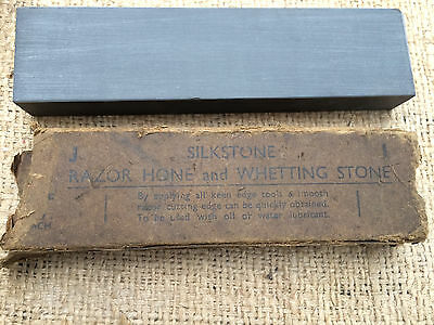 Vintage Natural Silkstone Razor Hone sharpening stone Cambrock little used